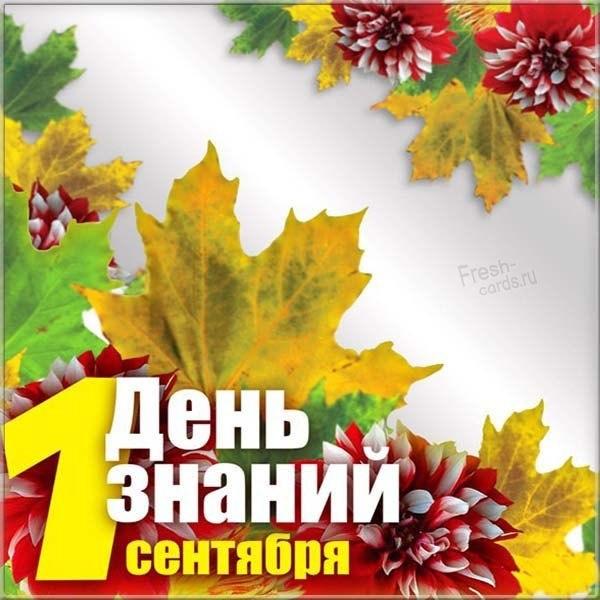 Фото открытка на день знаний