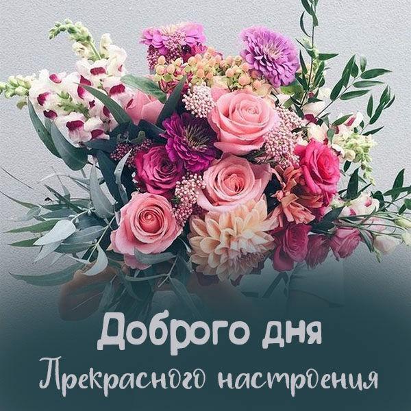 Открытка доброго дня и прекрасного настроения девушке