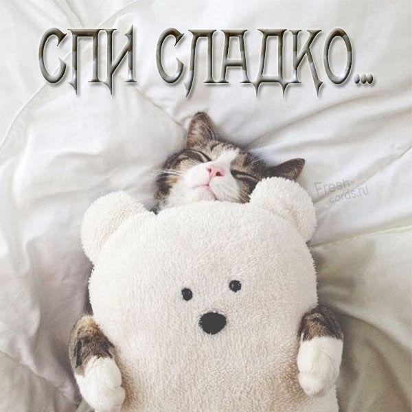 Открытка спи сладко