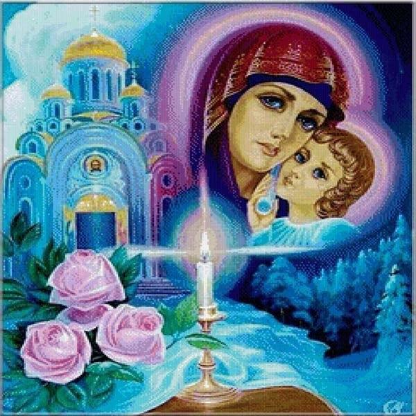 Рисунок на Благовещение Пресвятой Богородицы